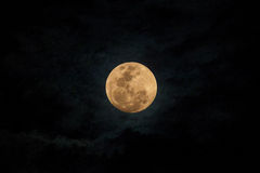 Full moon and dark cloud Royalty Free Stock Image