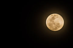 Full moon on dark sk Royalty Free Stock Photography