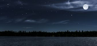Full moon at dark sky royalty free stock images