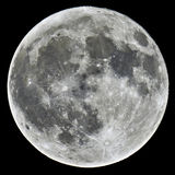 Full Moon. A detailed image of a full Moon taken with an astronomical telescope Stock Photos