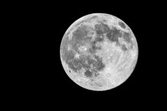Full moon. Detailed photo of a bright full moon Royalty Free Stock Image