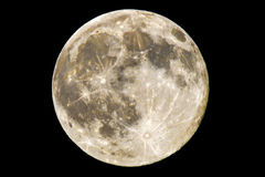 super full moon. Detailed photo of a bright full super moon Stock Photos