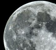 Full Moon details and copernik crater observing royalty free stock photos