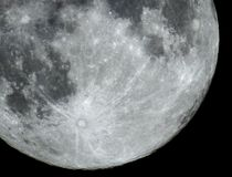 Full Moon details and craters observing Stock Image