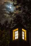 Full moon, dramatic night sky, lantern Stock Photos