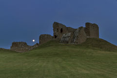 Full moon at Duffus Castle Stock Images