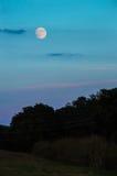 Full Moon at Dusk Stock Image