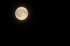 Full Moon before Eclipse. Full moon shining shortly before lunar eclipse on 8-28-2007 Stock Photography