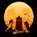 Full moon graveyard Royalty Free Stock Photo