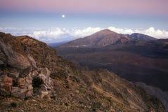 Full moon, Haleakala National Park, Maui, Hawaii Royalty Free Stock Images