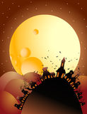 Full moon halloween night Stock Photo