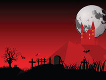 Full moon halloween night. Vector image of a full moon Halloween night, simple to use of flyer's or letters Stock Photos