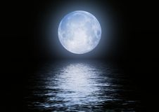 Full moon image with water stock photography