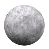 Full Moon Isolated. On white background. 3D render Royalty Free Stock Photography