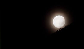 Full Moon at Midnight. A glowing full moon at midnight Royalty Free Stock Photo