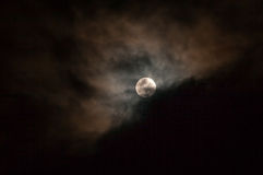 Dark Sky With Full Moon, Lunar Eclipse Stock Image
