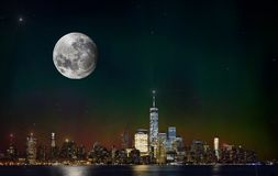 Full Moon New York Stock Photo