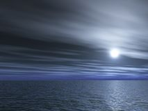 Full-moon night. Full- moon night. Beautiful 3d image Royalty Free Stock Image