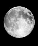 Full Moon at night. The full moon in the night black sky Stock Images