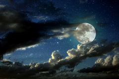 Full moon night Stock Photo