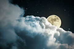 Full moon night Stock Photos