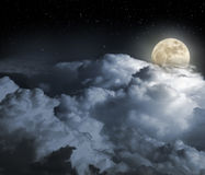 Full moon night Stock Image