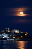 Full moon night Stock Image