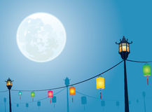 Full moon night mid autumn festival Royalty Free Stock Photo