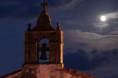 Full moon night on the San Roque hermitage. Royalty Free Stock Photo