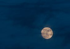 Full moon night scene Stock Photo