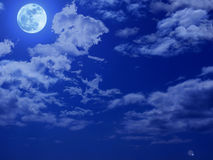 Full Moon Night Sky Royalty Free Stock Images