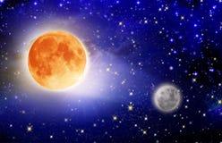 Full moon . Royalty Free Stock Image