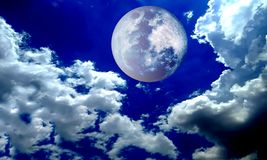 Full moon night sky. vector illustration stock photos