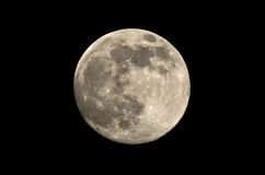 Full moon at night spends in the sky Stock Image