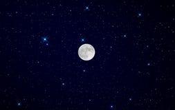 Full moon night Royalty Free Stock Photo