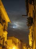 Full moon over Alora Street Stock Photography