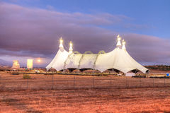 Full moon over a circus tent Stock Images