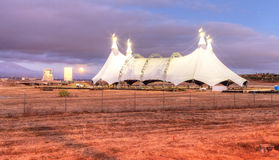 Full moon over a circus tent Royalty Free Stock Photos