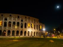 Colosseum at night Stock Images