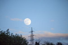 Full moon over Stock Photos