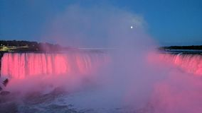 Full moon over the falls Royalty Free Stock Photos