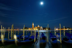 Full moon over Grand Canal Royalty Free Stock Images