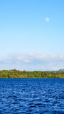 Full Moon over Lough Derg Lake, Ireland Royalty Free Stock Images