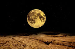 Full moon over Mars Stock Image