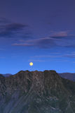 Full moon over mountain Royalty Free Stock Photography
