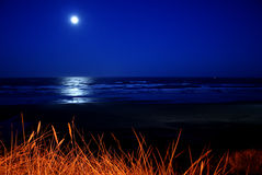 Full moon over Newport Beach Royalty Free Stock Photography