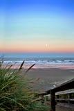 Full moon over Newport Beach Royalty Free Stock Photos