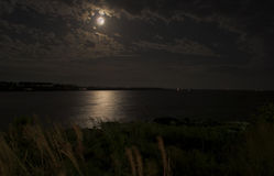 Full Moon over the Ocean Royalty Free Stock Photography