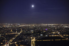 Full moon over paris Royalty Free Stock Images