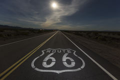 Full Moon Over Route 66 Stock Photography